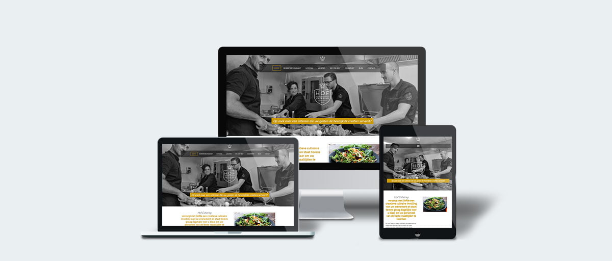 Website hof catering