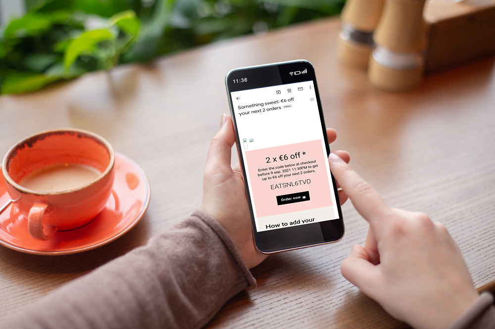 emailmarketing voor restaurants upsell